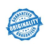 Originality guaranteed vector stamp. Isolated on white background Stock Illustration