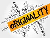 Originality word cloud collage. Creative business concept background Royalty Free Stock Image