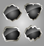 Originally designed metallic emblem set Royalty Free Stock Image