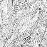 Origine ethnique abstraite d'Ornamental de modèle de plume Image libre de droits