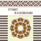 Origine ethnique Carte de voeux dans un style folklorique Image stock