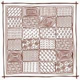 Origine etnica Reticolo geometrico astratto Immagine Stock Libera da Diritti