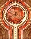 origine Fondo astratto tribale simmetrico dell'acquerello fotografia stock libera da diritti