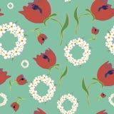 Origineel bloemen naadloos patroon Royalty-vrije Stock Foto