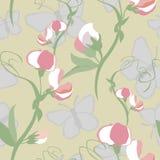 Origineel bloemen naadloos patroon Stock Afbeeldingen