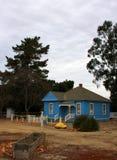 Origineel boerderijhuis bij Geschiedenis van Irrigatiemuseum, Koning City, Californië Stock Afbeeldingen