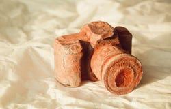 Origineel dessert in vorm van chocoladephotocamera Royalty-vrije Stock Afbeelding