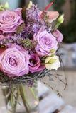 Origineel een bos van bloemen van Anthurium, hellebores, rozen, anjers Royalty-vrije Stock Afbeeldingen
