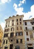 Origineel flatgebouw in Rome Royalty-vrije Stock Afbeeldingen