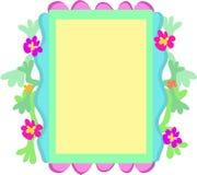Origineel Frame van Bloemen, Vormen, en Kleuren Stock Afbeelding