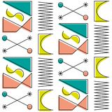 Origineel het rots-n-broodje van het abstractie retro pop-art patroon stock illustratie