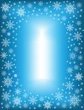 Origineel kader voor foto's en tekst Openwork sneeuwvlokken op een blauwe achtergrond leiden tot een feestelijke stemming Een pra royalty-vrije illustratie