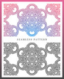 Origineel naadloos hoog patroon, - kwaliteit Ritmisch die patroon, op symmetrie wordt gebaseerd royalty-vrije illustratie