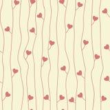 Origineel naadloos patroon met harten Royalty-vrije Stock Afbeelding