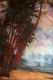 Origineel olieverfschilderij Royalty-vrije Stock Foto