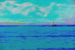 Origineel olieverfschilderij Stock Fotografie