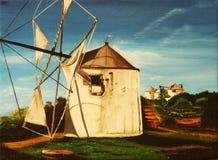 Origineel Olieverfschilderij Stock Afbeeldingen