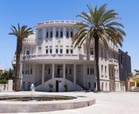 Origineel Oud Tel. Aviv City Hall Building royalty-vrije stock fotografie