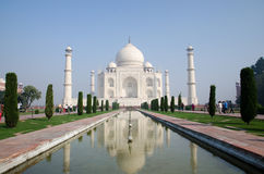 Origineel, Taj Mahal Seven Wonders Concept, India, royalty-vrije stock fotografie