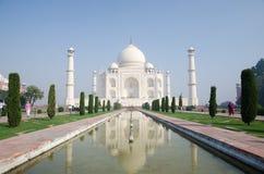 Origineel, Taj Mahal Seven Wonders Concept, India, stock afbeeldingen