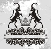 Origineel   zwart Bloemenpatroon met griffioenen Stock Afbeelding