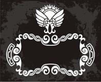 Origineel   zwart Bloemenpatroon met kroon Stock Afbeeldingen