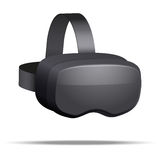 Originele 3d VR-hoofdtelefoon royalty-vrije illustratie