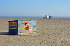 Originele Deckchair-Box, Great Yarmouth, Norfolk, het UK Royalty-vrije Stock Afbeelding