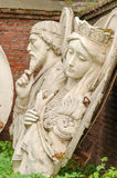 Originele die bas-hulp van Christus de Verlosser, in 1931 I wordt vernietigd Stock Fotografie