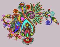 Originele digitaal trekt de overladen bloem van de lijnkunst Royalty-vrije Stock Fotografie