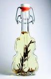 Originele fles met olie. royalty-vrije stock foto's