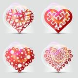 Originele hartsymbolen (pictogrammen, tekens). Stock Foto