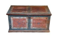 Originele houten borst van de 18de eeuw Stock Fotografie