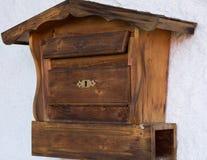 Originele houten brievenbus Royalty-vrije Stock Fotografie