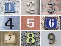 Originele huisnummers 10 tot 18 Royalty-vrije Stock Foto's
