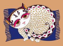 Originele illustratie van decoratieve kat Stock Fotografie