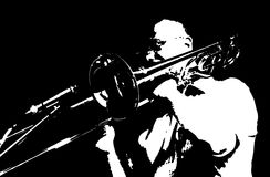 Originele jazzspeler stock illustratie