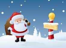 Originele Kerstman Stock Afbeelding