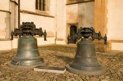 Originele klokken van de Basiliek in Bardejov Stock Foto