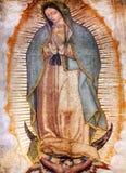 Originele Mary Guadalupe Painting New Basilica Shrine Mexico-City Mexico royalty-vrije stock afbeeldingen