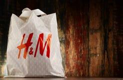 Originele plastic het winkelen van H&M zak Royalty-vrije Stock Foto