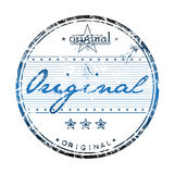 Originele rubberzegel Royalty-vrije Stock Afbeelding