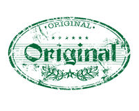 Originele rubberzegel Stock Afbeeldingen