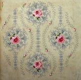 Originele textiel uitstekende stijl Schets uitstekende hand geschilderde gouache Stock Afbeelding