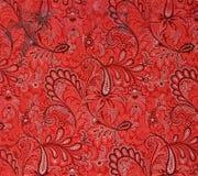 Originele textielpatroon moderne stijl Schets uitstekende hand geschilderde gouache stock illustratie