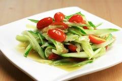 Originele Thaise komkommersalade Royalty-vrije Stock Foto's