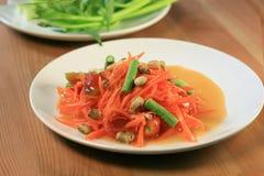 Originele Thaise wortelsalade Royalty-vrije Stock Afbeeldingen