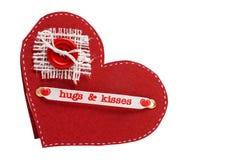 Originele valentijnskaartkaart Stock Foto's