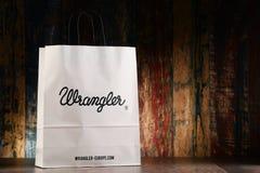 Originele Wrangler-document het winkelen zak Stock Foto's