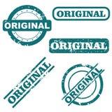Originele zegels royalty-vrije illustratie